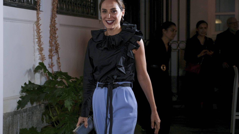 Tamara, con el mismo cinturón que Letizia. (Oscar Gonzalez/NurPhoto)