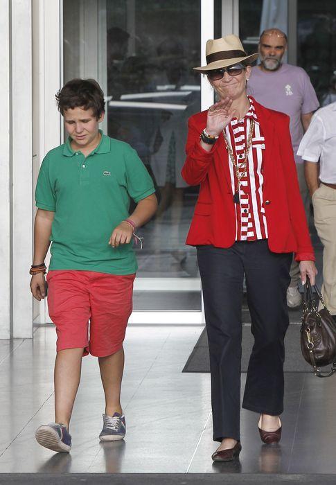 Foto: La infanta junto a su hijo este verano (I. C)
