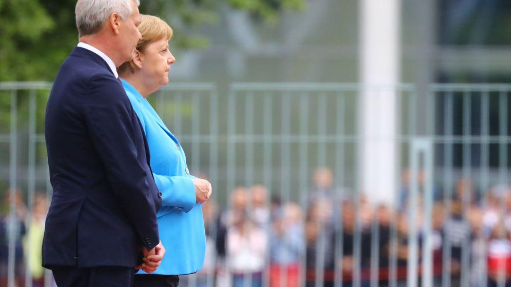 Foto: Ángela Merkel, durante el acto. (EFE)