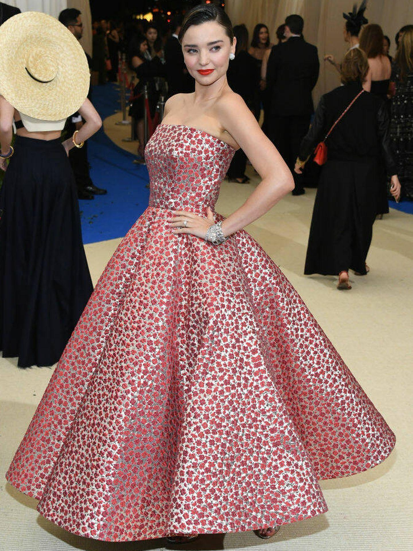Miranda Kerr, en la gala del MET 2017. (Getty)