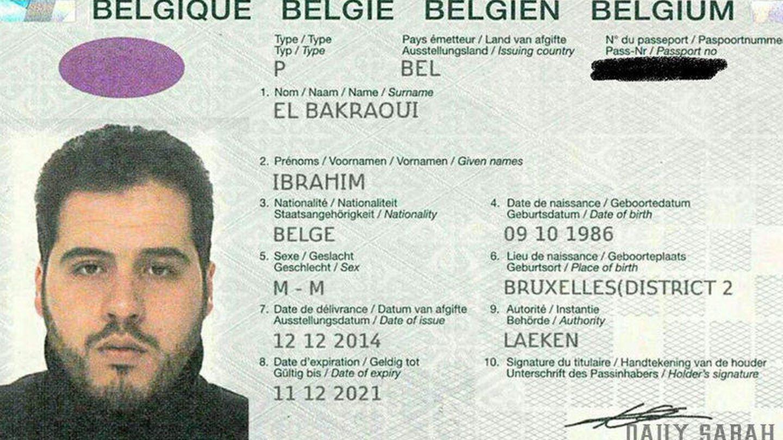 El pasaporte de Ibrahim El Bakraoui, facilitado por la policía turca al diario 'Daily Sabah'