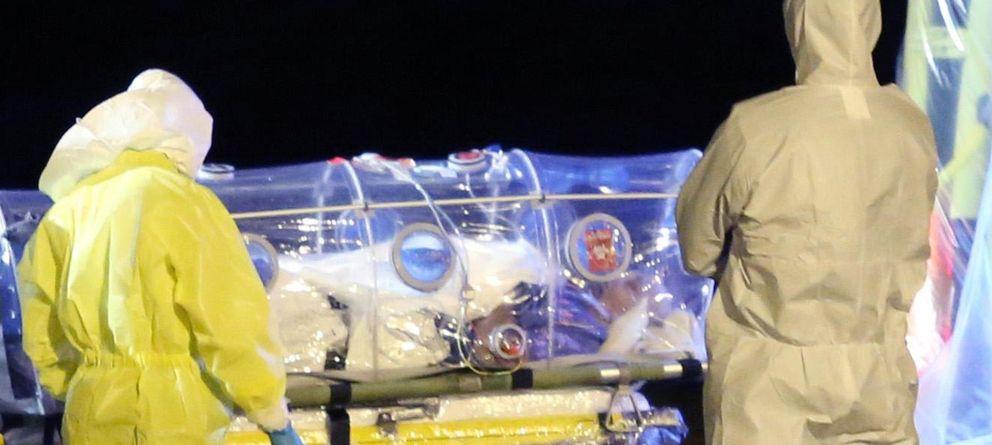 Foto: Paciente de ébola repatriado (EFE)