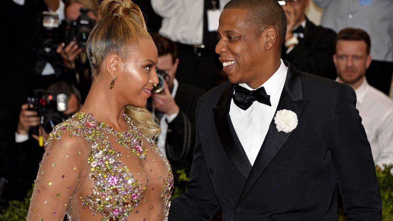 Beyonce junto a su marido Jay Z a su llegada a la gala de Anna Wintour en el Museo Metropolitano de Arte de Nueva York.