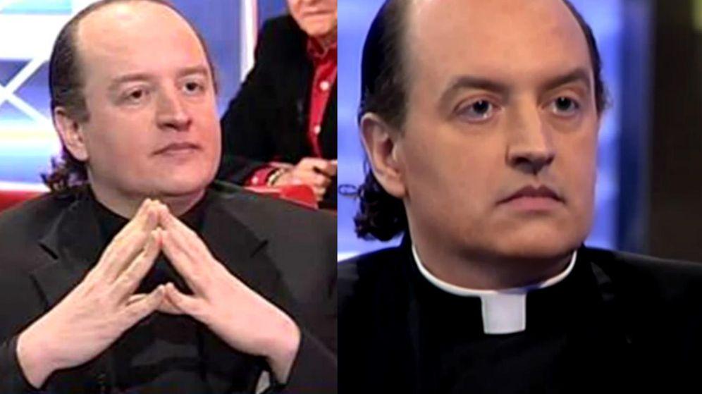 Foto: El padre Apeles, en su época televisiva
