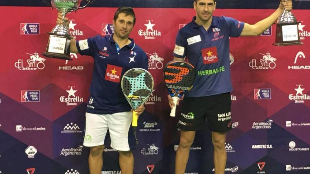 Foto: Matías Díaz (i) y Maxi Sánchez (d), campeones en Mendoza (Foto: WPT)