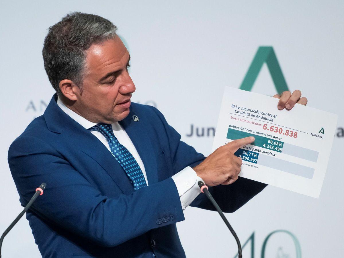 Foto: El portavoz del Ejecutivo andaluz, Elías Bendodo. (EFE)