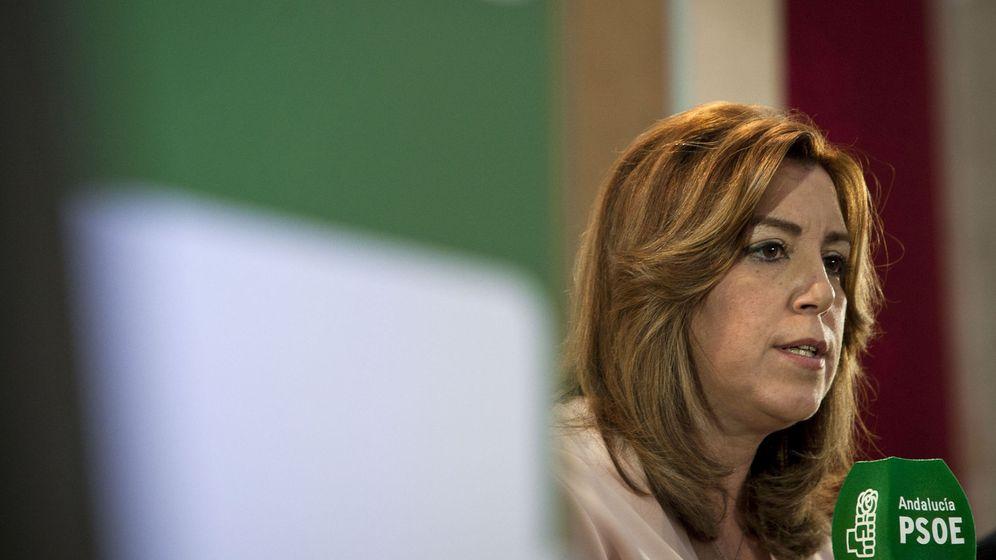 Foto: Susana Díaz, este 28 de enero durante su intervención en las jornadas para celebrar el 130 aniversario del PSOE de Alcala de los Gazules (Cádiz). (EFE)