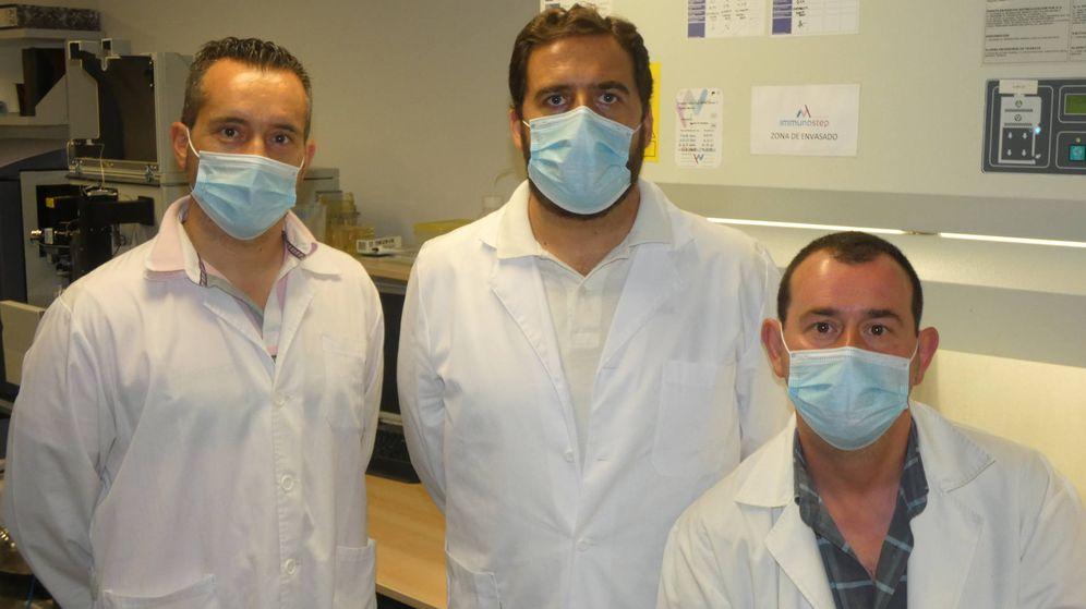 Foto: De izquierda a derecha, Alfredo Conde, Ricardo Jara y José Claros, fundadores de Inmunostep. (Imagen cedida)