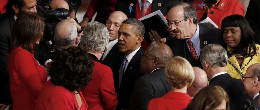 Barack Obama tras el debate (Efe)