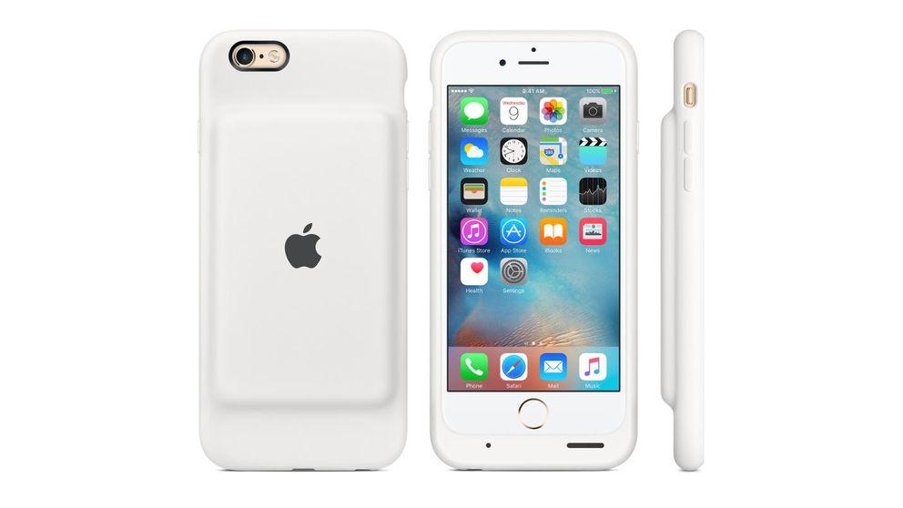Nunca más sin batería: Apple lanza una funda que carga el iPhone 6 y el 6S
