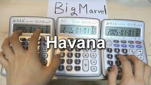 Así suena la canción de 'Habana' con unas calculadoras