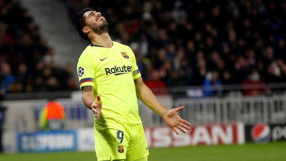 Foto: Luis Suárez se lamente en el último partido de Champions. (EFE)
