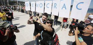 Post de Rufián protagoniza la cadena humana soberanista en el País Vasco con PNV y Bildu