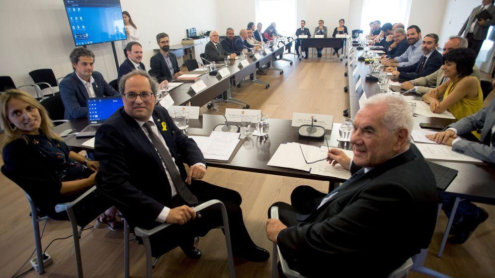 Foto: Reunión del DiploCat, con Quim Torra y Ernest Maragall. (EFE)