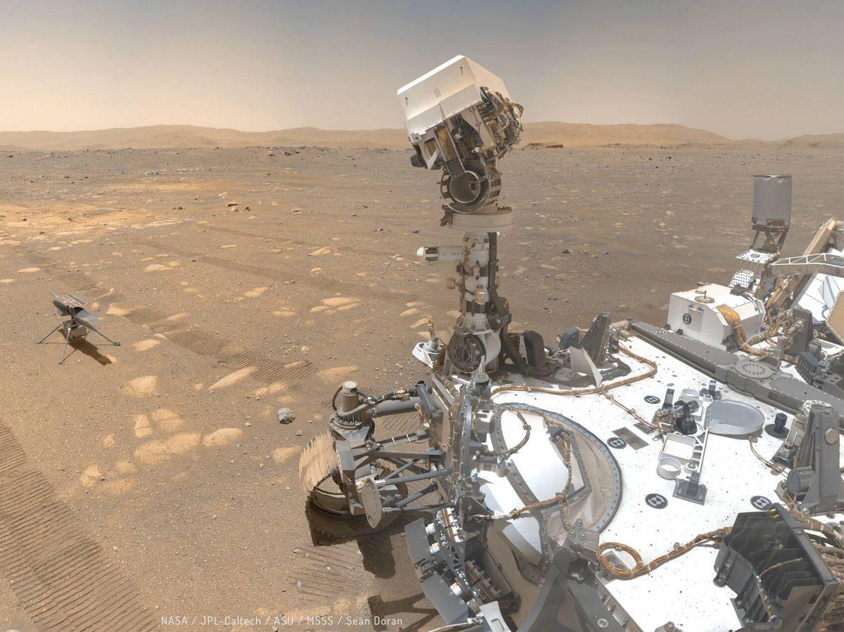 Foto: Imágenes del 'rover' Perseverance sobre la superficie de Marte. (NASA)