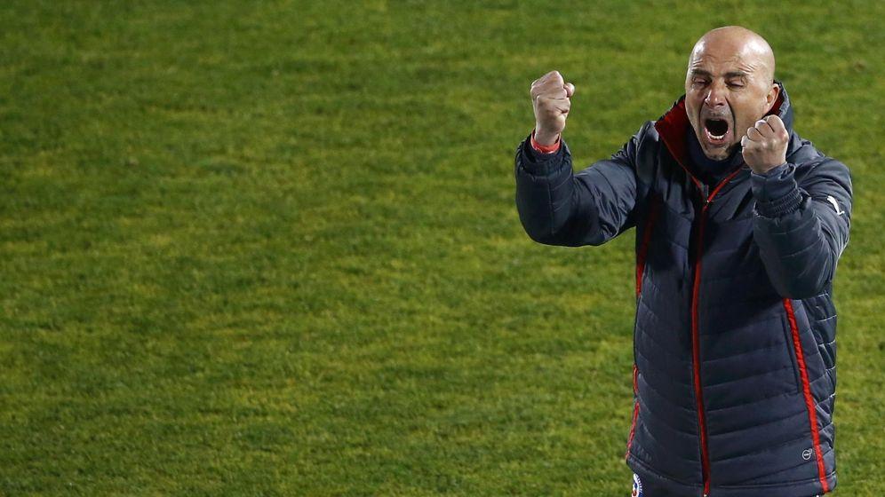Foto: Jorge Sampaoli, durante un partido con la selección de Chile. (Reuters)