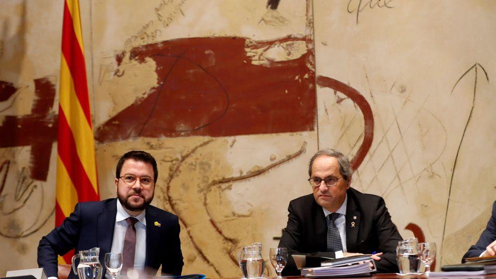 Foto: El presidente de la Generalitat, Quim Torra, junto a su vicepresidente, Pere Aragonès. (EFE)
