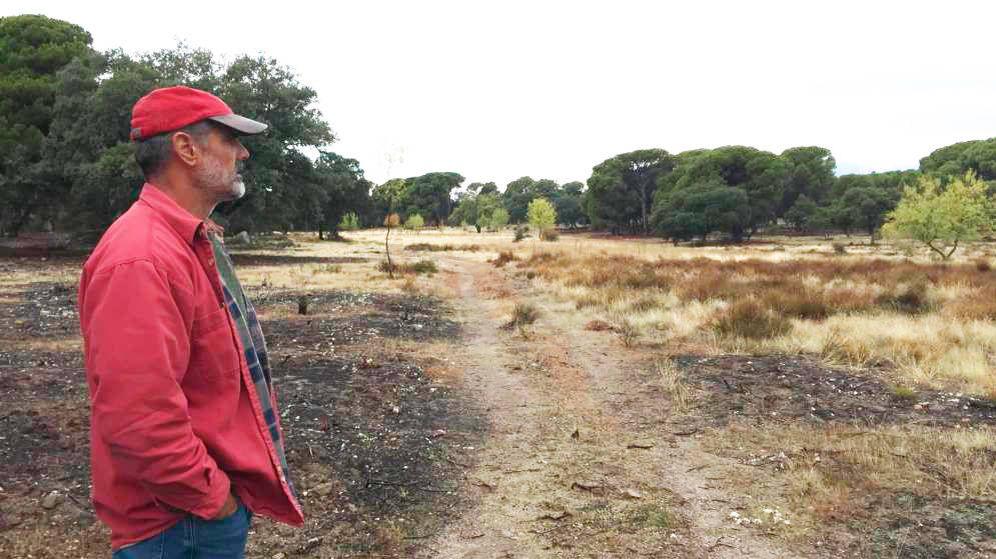 Foto: Arturo García de Mateos, en su finca. (A. V.)