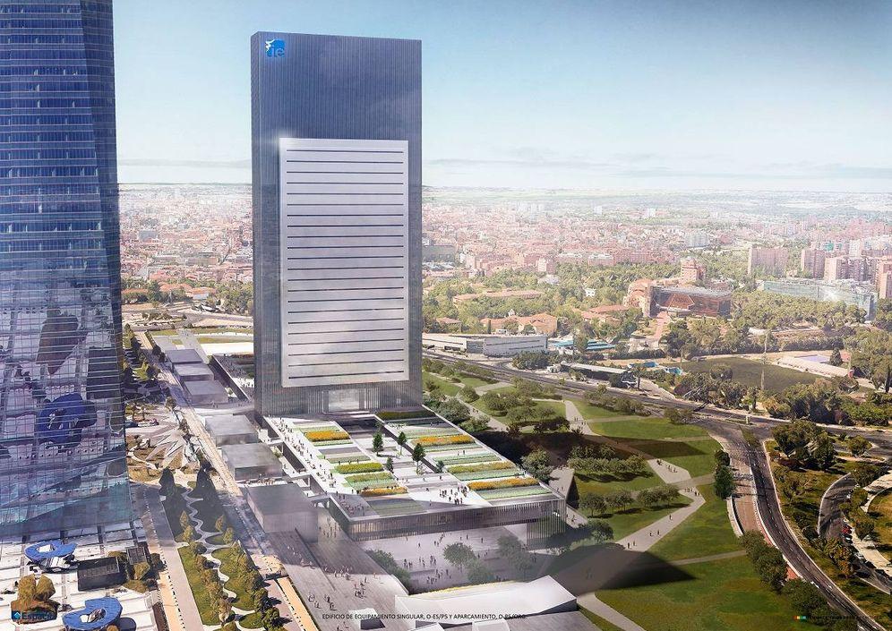 Foto: Proyecto de la futura Quinta Torre, que albergará al Instituto de Empresa.