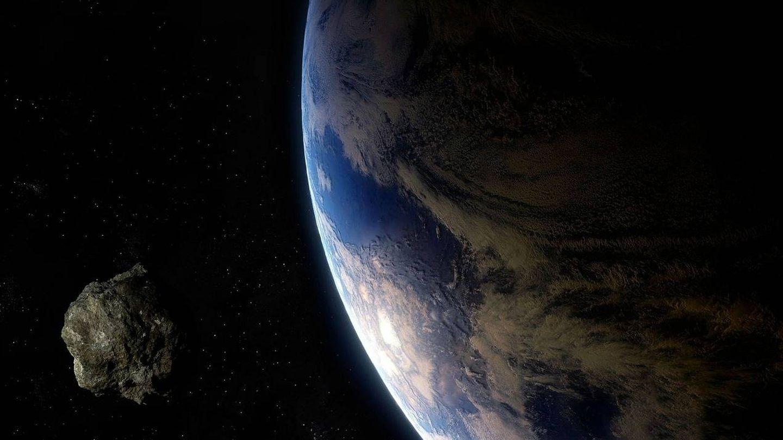 Representación de un asteroide acerándose a la Tierra. Foto: Pixabay