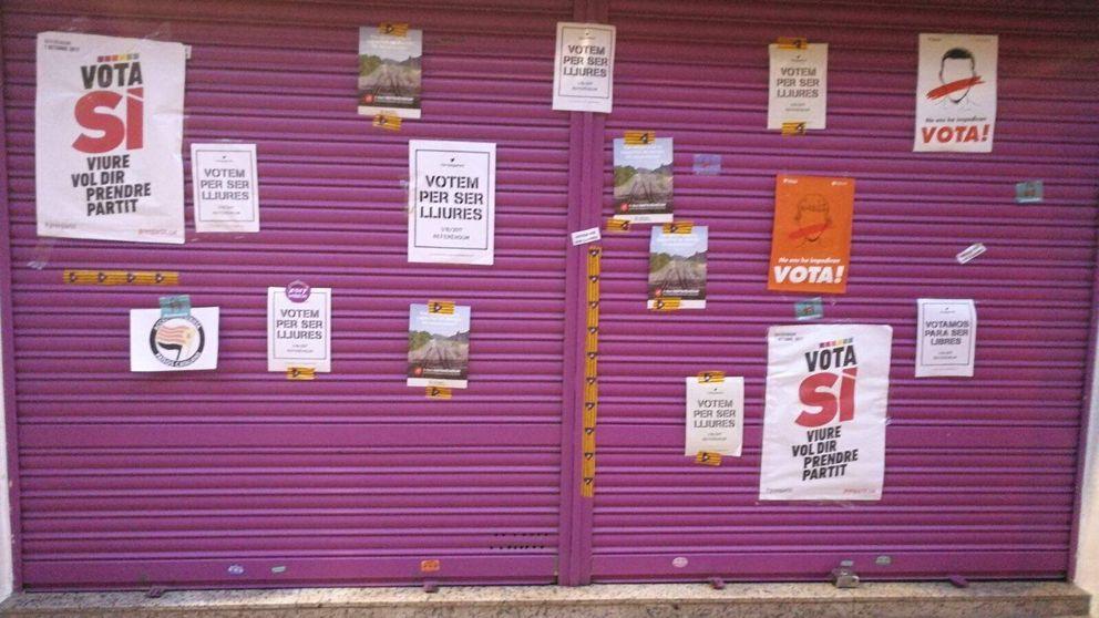 El negocio de los padres de Albert Rivera, lleno de carteles independentistas