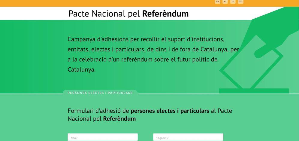Foto:  Página web del Pacte Nacional pel Referèndum.