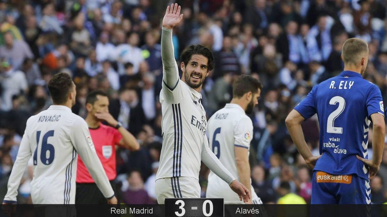 Foto: Isco celebra el gol del Madrid. (EFE)
