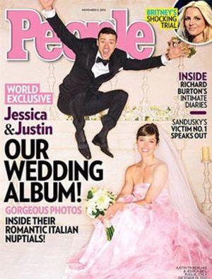 El vestido de novia de Jessica Biel fue rosa