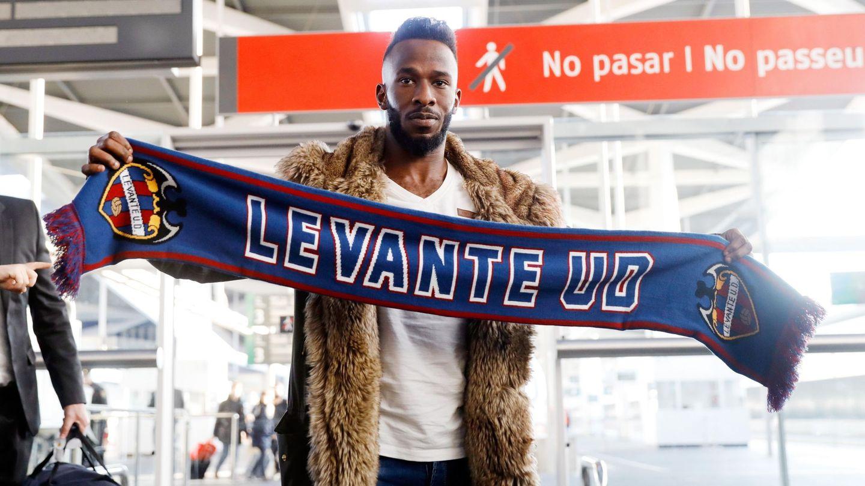 Fahad, a su llegada al Levante. (EFE)