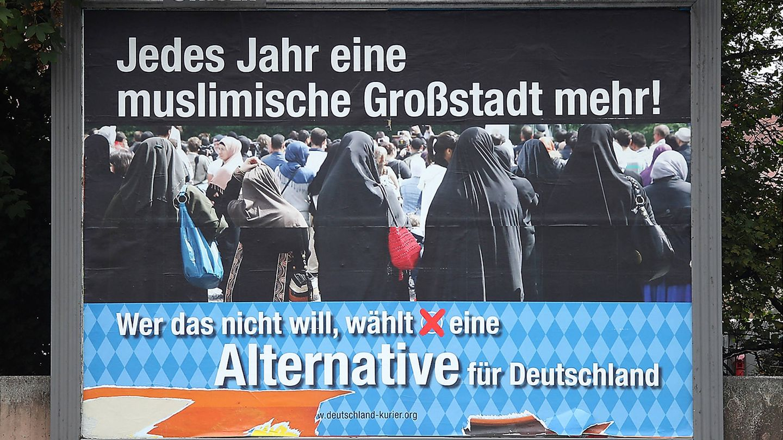 Un póster de campaña de Alternativa para Alemania en Múnich, Alemania. (Reuters)