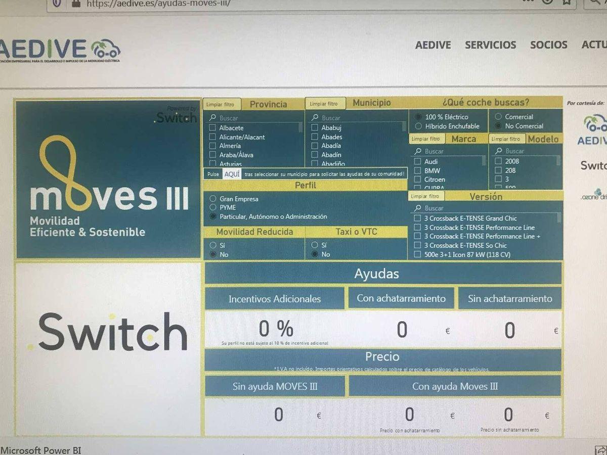 Foto: Esta es la aplicación puesta en marcha por AEDIVE y desarrollada por Switch, muy fácil de utilizar.