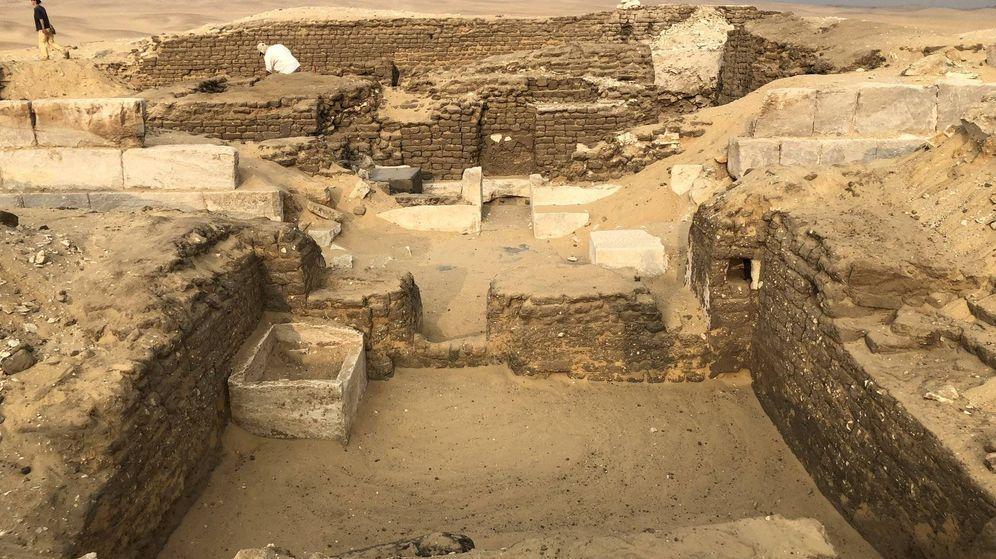 Foto: Abusir, la zona en la que se encontró el enterramiento de Kaires. (FOTO: Instituto Checo de Egiptología)