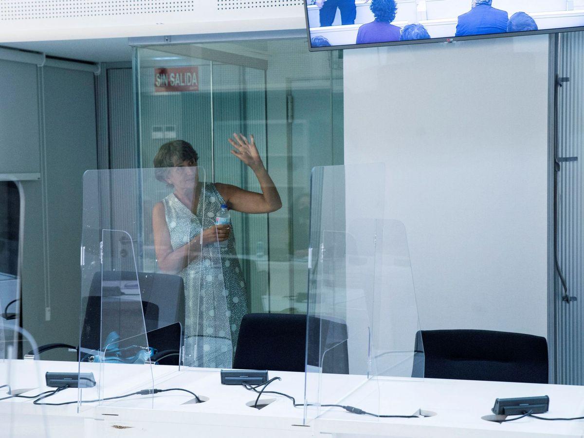 Foto: La histórica dirigente etarra Soledad Iparraguire, durante uno de sus juicios en la Audiencia Nacional. (EFE)