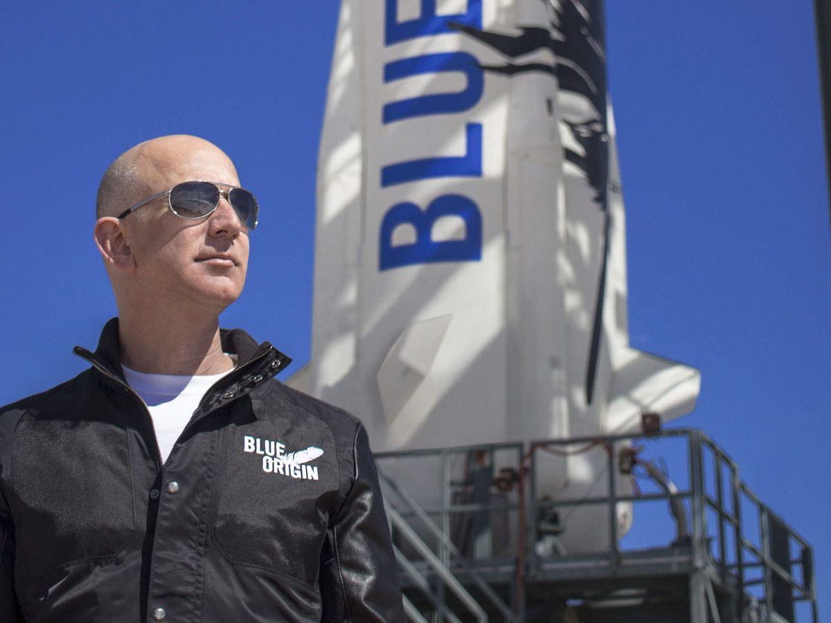 Foto: Jeff Bezos será la primera gran fortuna que vuele al espacio. (EFE EPA/Blue Origin)