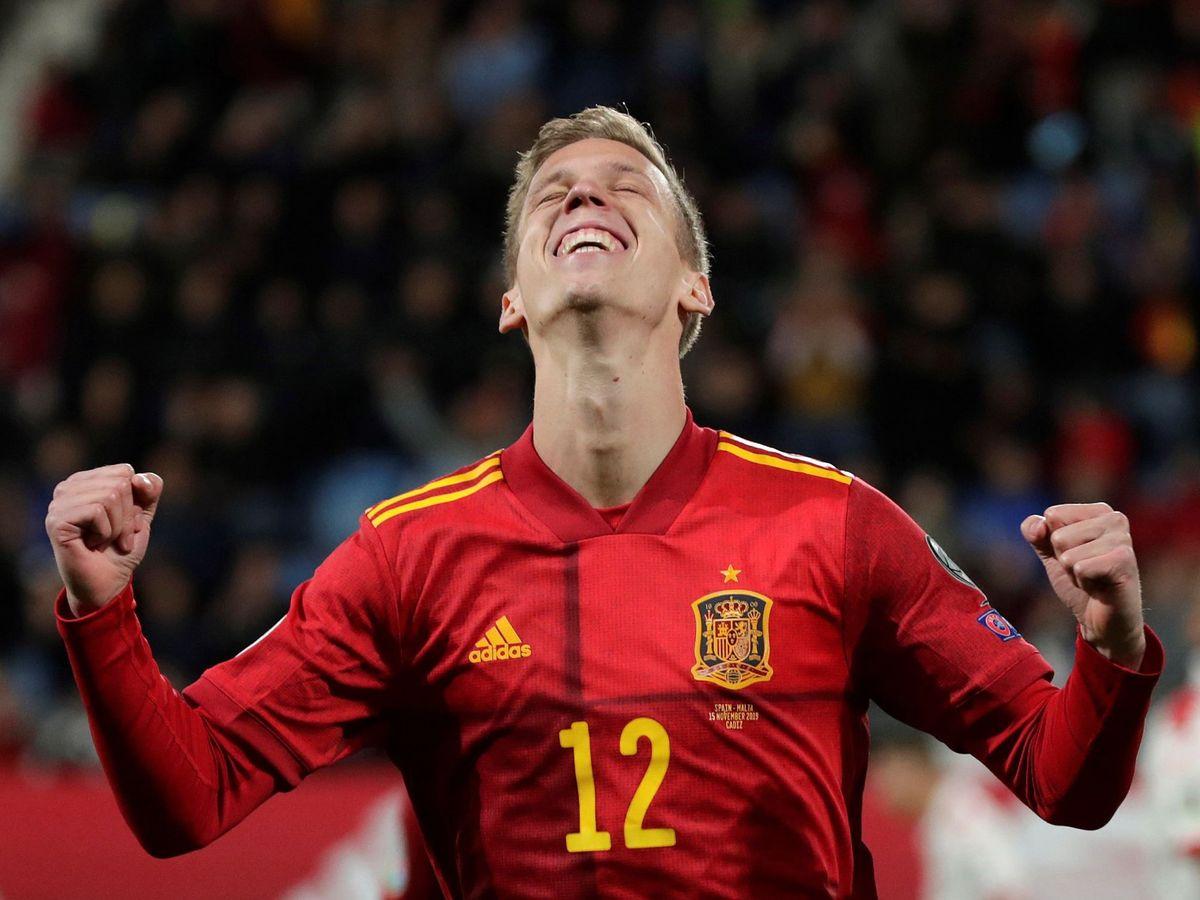Foto: Dani Olmo debutó con la Selección española el 15 de noviembre de 2019 y marcó un gol a Malta. (EFE)