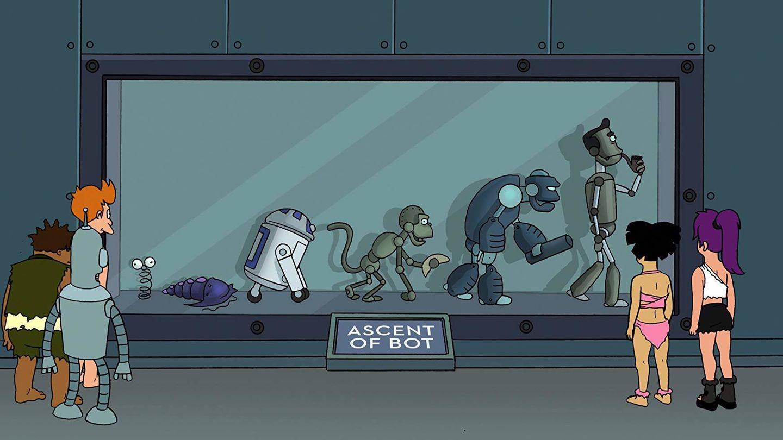 La evolución robótica según 'Futurama'.