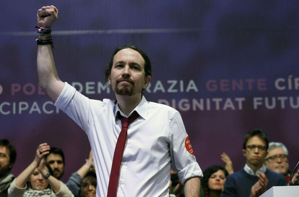 Foto: El líder de Podemos Pablo Iglesias, durante la segunda jornada de la Asamblea Ciudadana Estatal de Vistalegre II (Efe)