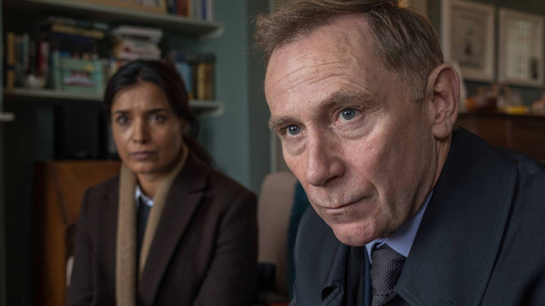 Los detectives Harmon y Maxwell, investigadores del caso.
