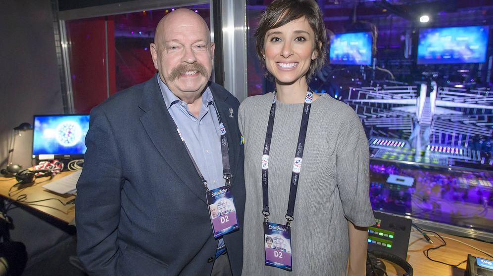 Foto: Jose María Íñigo y Julia Varela repiten en 'Eurovisión 2017'.