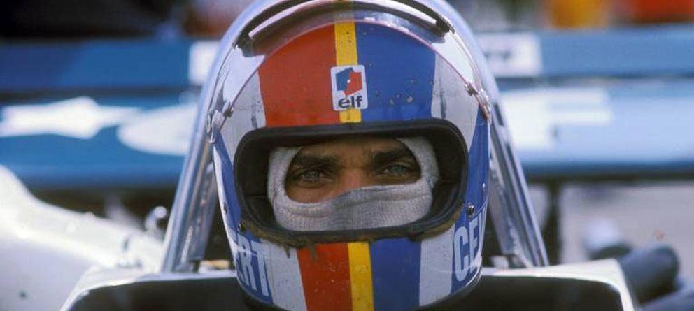Foto: Francois Cevert antes de un gran premio de Fórmula 1.