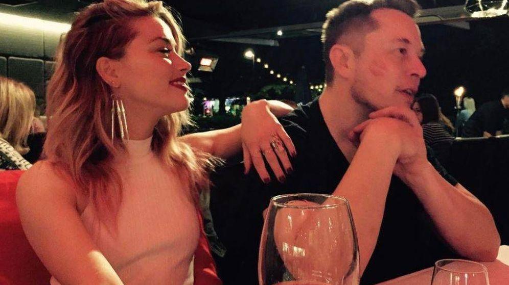 Foto: Amber Heard y Elon Musk en una imagen de archivo. (Instagram)