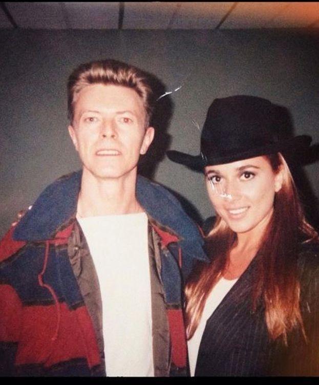 Foto: Marta Sánchez junto a David Bowie (Instagram)