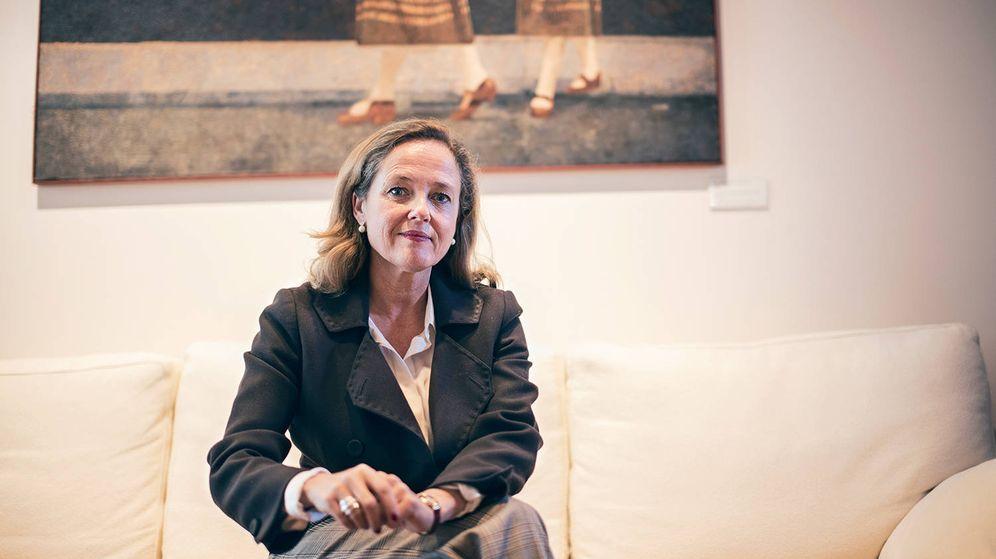 Foto: La ministra de Economía en funciones, Nadia Calviño. (Jorge Álvaro)