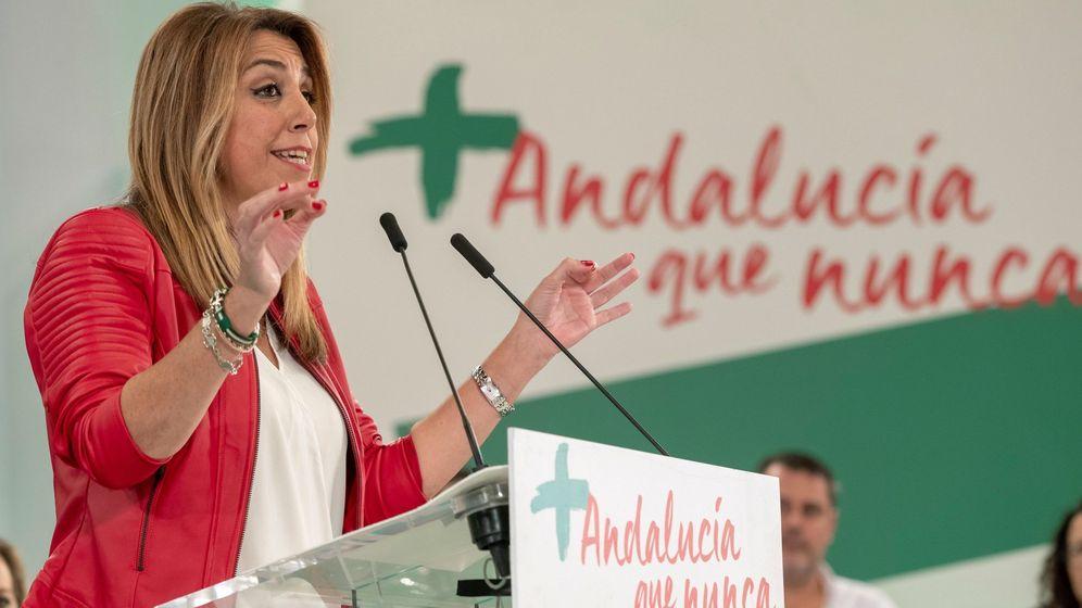 Foto: Susana Díaz durante la campaña de las elecciones andaluzas. (EFE)