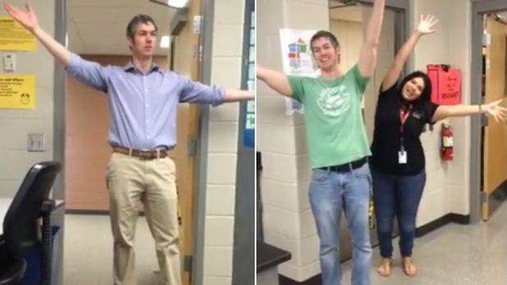 El bonito homenaje de unos alumnos a su profesor de español
