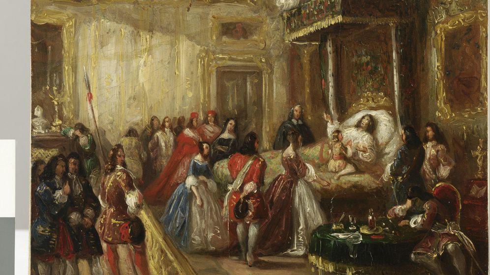 Foto: 'La mort de Louis XIV au palais de Versailles', Thomas Henry Baker