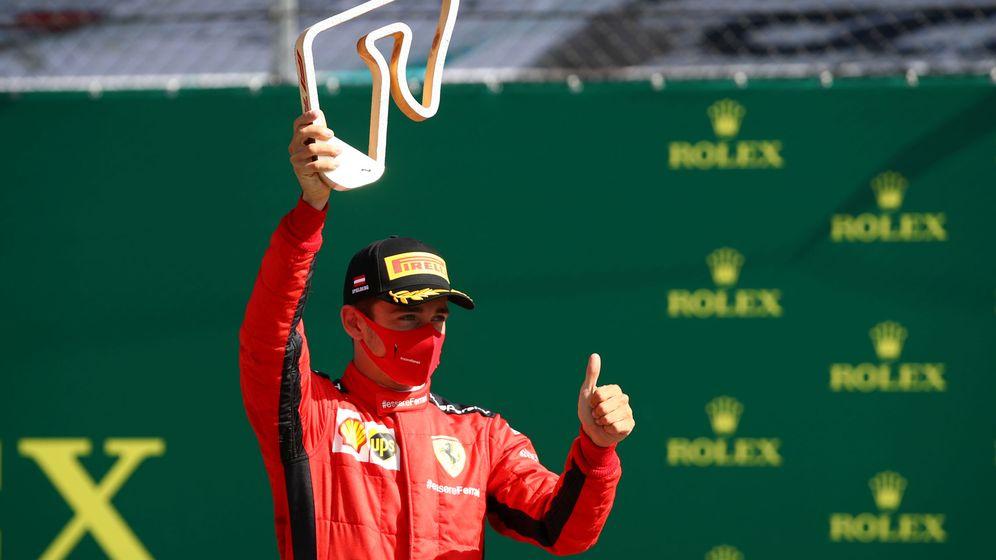 Foto: Charles Leclerc logró un segundo puesto que nadie esperaba en Ferrari. (Reuters)