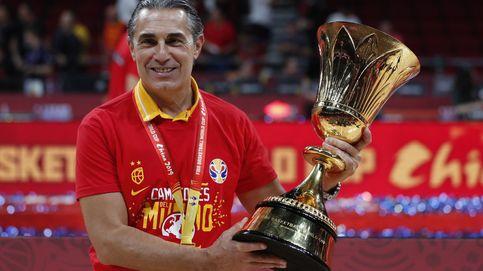 El discurso calmado de Sergio Scariolo antes de ser bañado por sus jugadores
