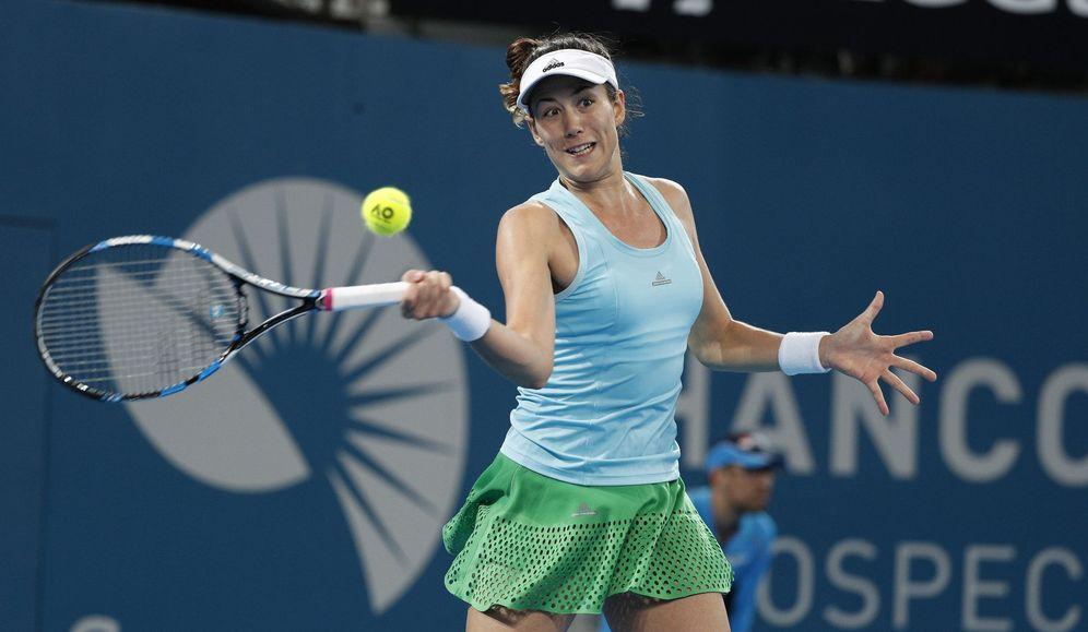 Foto: Garbiñe Muguruza en acción durante el torneo de Brisbane (EFE)