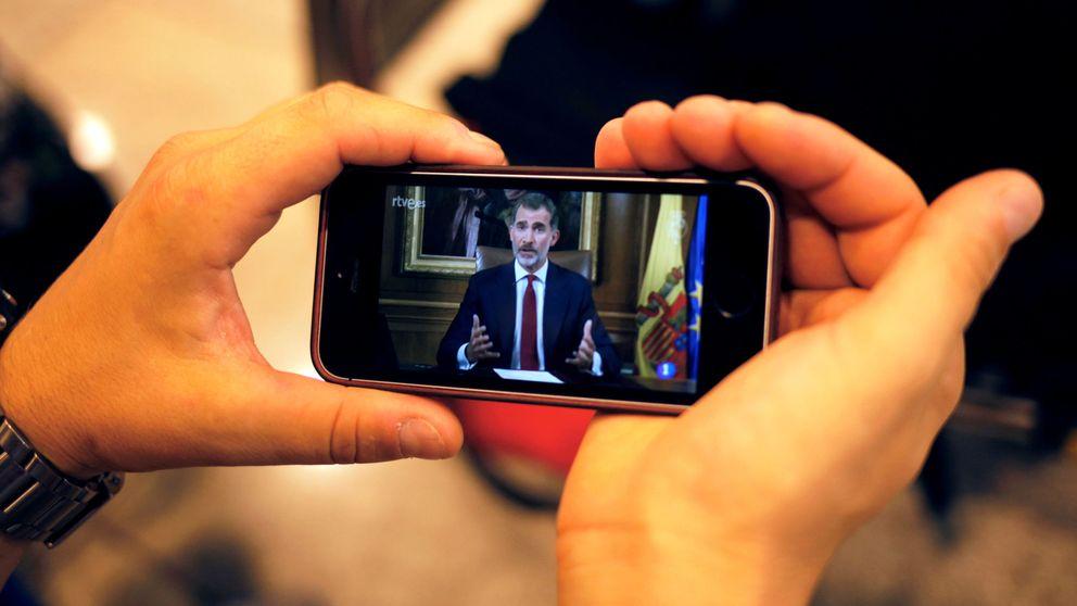 Vuelve a ver el discurso del rey tras el referéndum del 1-O en Cataluña